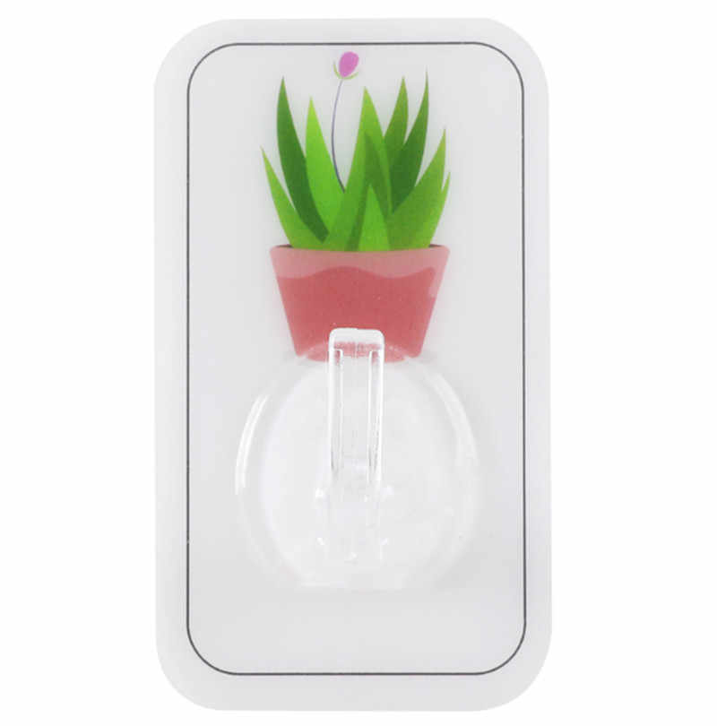 1PC קקטוס קיר ווים חזק דבק וו כוס יניקה פרייר קולב למטבח אמבטיה מפתח מחזיק אחסון קולבים