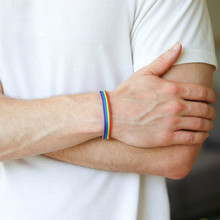 2019 New Arrivals Vintage Rope Chain Charm Bracelet Fashion Gay Pride Rainbow  Friendship