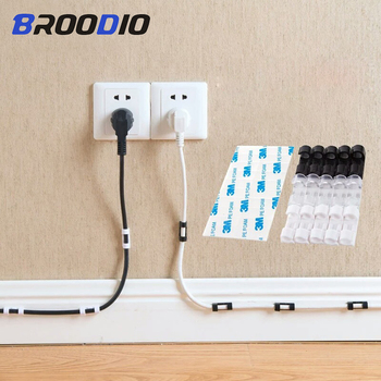 Wire Cable Organizer Clip Adhesive Charger Clasp Desk Wire Cord Earphone Telephone Line Tie Charge Cable Fixer Management Holder 30cm self adhesive raceway wall cord duct cover cable duct ties fixer fastener holder for cable organizer storage clip