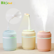 купить USB 200ML Cans Air Humidifier LED Night Light Ultrasonic Cool Mist Essential Oil Diffuser Aroma Night Lamp Car Purifier Fogger онлайн