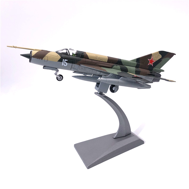 Aircraft Plane Model Former Soviet Air Force Fighter MiG-21 Airplane Alloy Model Diecast 1:72 Metal Planes