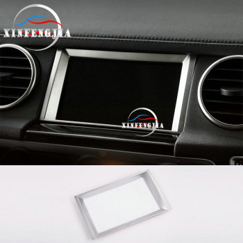 Chrome Center GPS Navigator Instrutment Frame Trim For Land Rover LR4 2010-2016 image