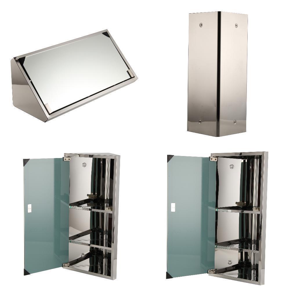 600x300mm Corner Cabinet Mirror Storage Wall Mounted Useful Convenience Bathroom Unit Door Modern Mirror Cabinet