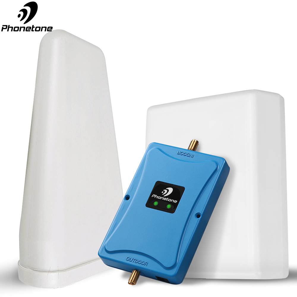 GSM Repeater 2G 3G 4G Cell Phone Signal Booster 850/1700MHz Gain 65dB 4G LTE Amplifier Mobile Cellular Booster With Antennas Set
