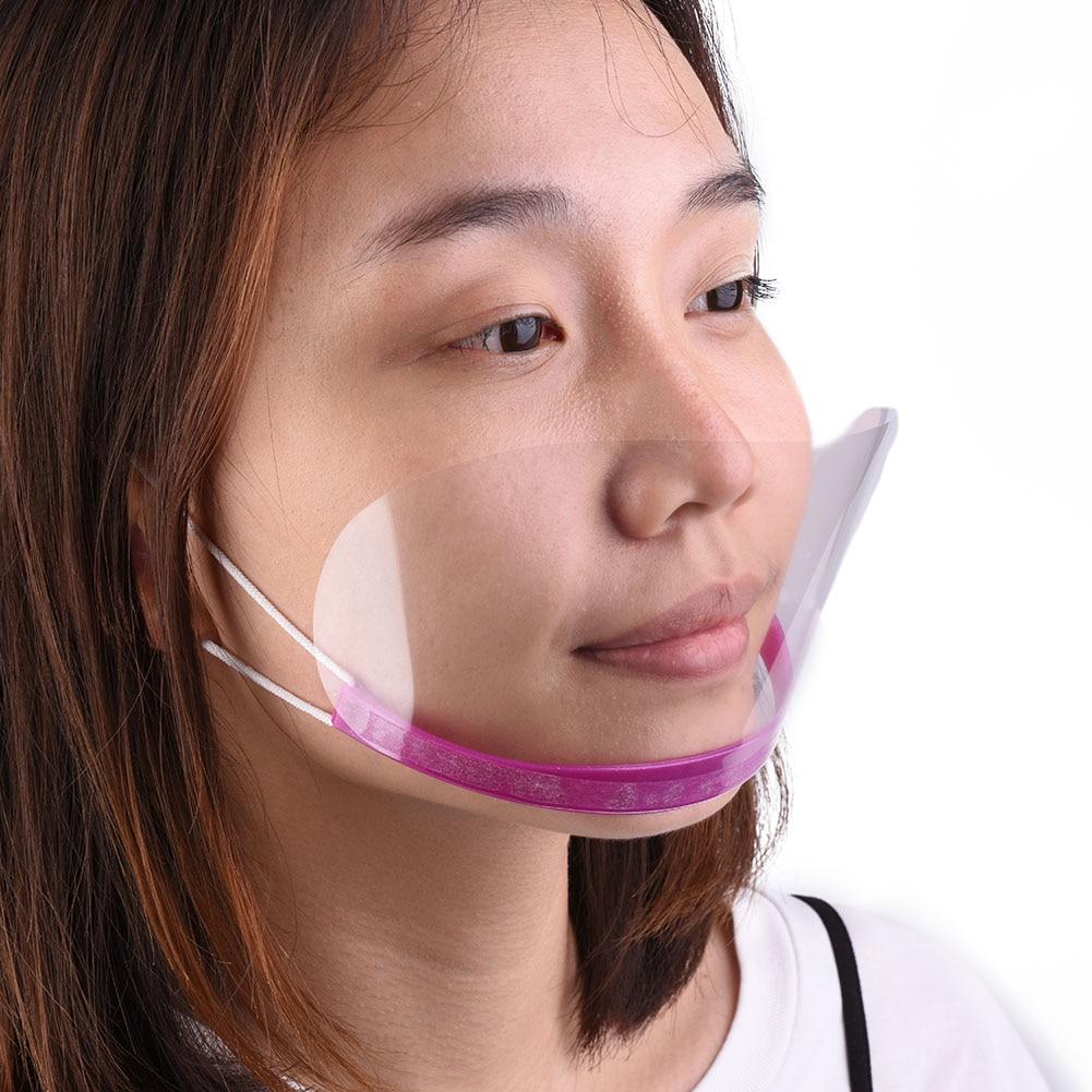 50Pcs Plastic Face Shield Multifunctional Transparent Hairspray Mask Eye Face Protector Salon Hair Cut Face Protection Shield