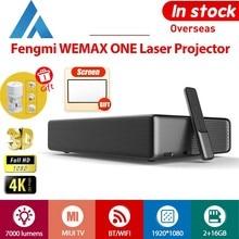 Fengmi Projetor 4K projetores laser WEMAX ONE 4K Full HD 1080P 3D 7000 lumens 2 + 16GB Android 6.0 ALPD bluetooth WiFi WiFi 150 polegadas 3000: 1 TV MIUI do projetor MIUI da Appotronics 0.233: 1 Português