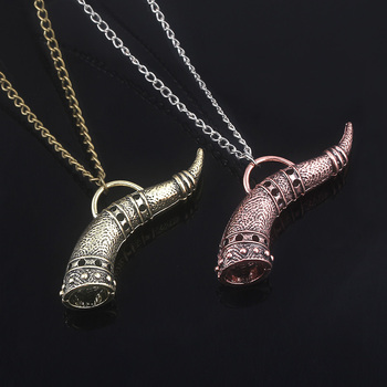MIDY Game The Elder Scrolls Toig Horn Necklaces Morrowind Oblivion Amulet of Mara Metal Collar Necklace Cosplay Jewelry Gift image