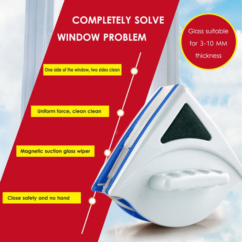 Window Cleaner Magnetic Brush Easy Clean Durable Double Layer ABS Cleaning Tools Glass Family Double Cleaner High Building