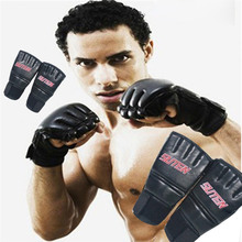 Pu Leather MMA Muay Thai Training Punching Bag Mitts Sparring Boxing Gloves Gym LDF668