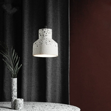 Nordic Terrazzo Cement Concrete Pendant Lights Modern Led E27 Restaurant Bar Living Room Bedroom Kitchen Industrial Lamp Design