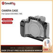 Nato 레일이있는 Canon EOS M50 / M5 케이지 용 SmallRig DSLR 카메라 케이지 퀵 릴리스 어 테치먼트 2168 용 콜드 슈 마운트