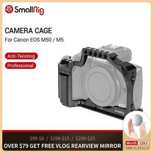 Image 1 - Nato 레일이있는 Canon EOS M50 / M5 케이지 용 SmallRig DSLR 카메라 케이지 퀵 릴리스 어 테치먼트 2168 용 콜드 슈 마운트
