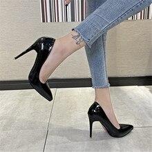 Escarpins à Talons Hauts pour femmes, chaussures à Talons aiguilles, noir, rouge, rose, 2021