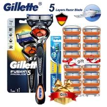Мужская бритва Gillette Fusion Proglide, бритвенный станок для бритья, 5-слойный Безопасный нож, кассеты с сменными лезвиями
