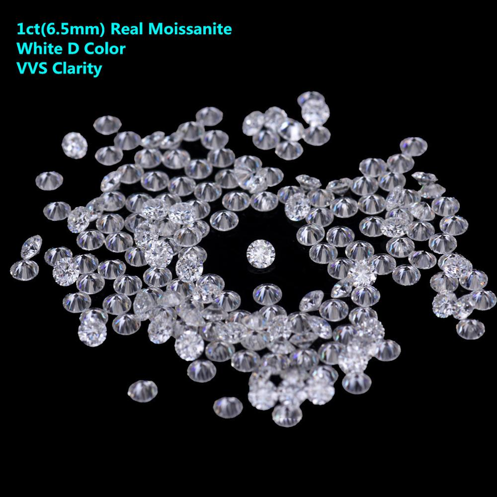 1ct Moissanite Loose Stone White D Color VVS Moissanites Beads Diamond DIY Raw Material Hearts And Arrow Drop Shipping