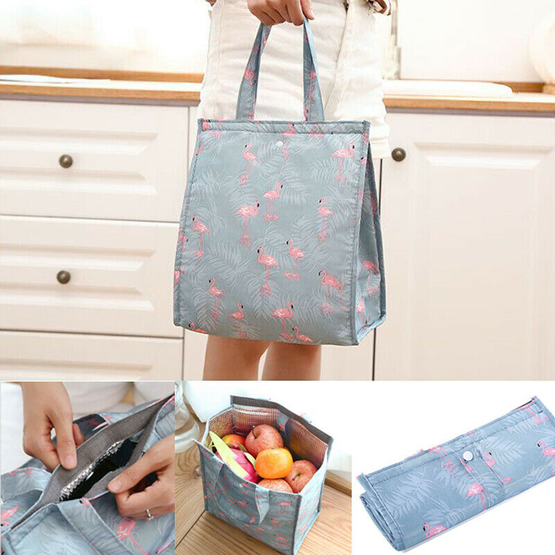 Portable Insulated Thermal Cooler Cartoon Print Lunch Box Carry Tote Picnic Case Storage Bag
