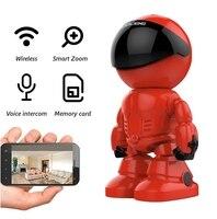 1080P WiFi Roboter IP Kamera Pan Tilt Sicherheit WiFi Kamera Unterstützung P2P nachtsicht Motion Detection zwei wege Audio + TF Karte Slot-in Überwachungskameras aus Sicherheit und Schutz bei
