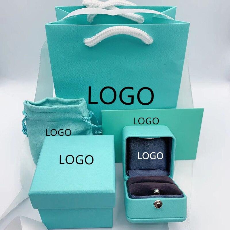 SHINETUNG Trendy Necklace Bracelet Rings Earrings Jewelry Box Gift Box,Original 1:1 With Logo,Women Birthday Valentine'sDay Gif