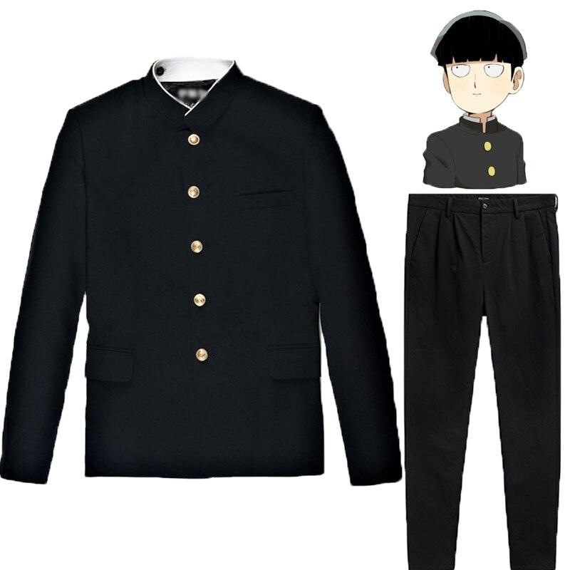 Mob Psycho 100 Mobu Saiko Hyaku Kageyama Shigeo cosplay costume black Gakuran Suits Pants S-4XL