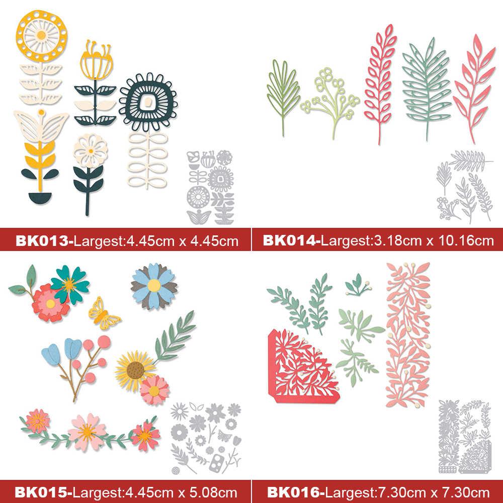 Pétalos de flores apilables, troqueles de corte de Metal para DIY, corte Bloc de notas, plantillas de papel, tarjetas en relieve, arte decorativo, troquelado, 2002 nuevo