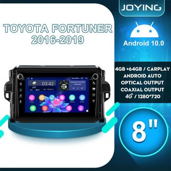 JOYING 8Car Multimedia Audio System 2 din Radio Android 10 Automotivo Bluetooth Carplay DVR 4G For Toyota Fortuner 2 2016 2019 image