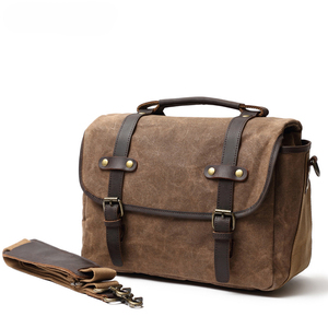 Image 2 - DSLR Camera Bag Fashion Grazy Horse Leather Shoulder Bag Hand Bags For Canon Nikon Sony Lens Pouch Bag Waterproof Photo Bag