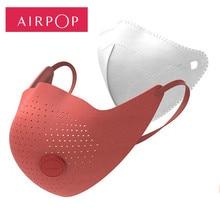 Youpin masque facial AirPOP, 2 pièces, Anti brume, confortable, Anti brume, usure, Air, pm 0.3 / pm 2.5