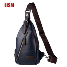 LISM Europe And America Quality PU Mens Chest Bag  Luxury Bags High Multifunction 2019 New Counter Promotion
