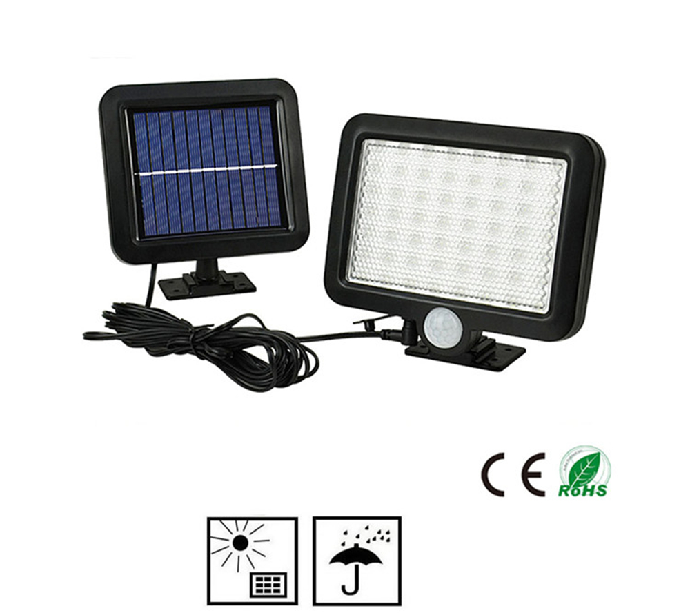 56/30 LED PIR Motion Sensor Solar Light Waterproof Outdoors Energy Saving Street LED Lamp Yard Path Solar Garden Light split mou