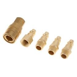 5 peças 1/4 coucouacopladores da ferramenta do ar do npt com encaixes da liberação rápida do adaptador