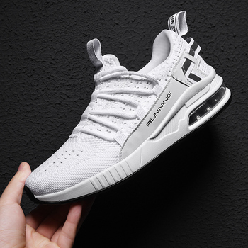 Men Casual Shoes Running Shoes Breathable Sneakers Men Air Cushion Mesh Sports Shoes Trend Trainers Couple models Shoes Big Size li ning men s cushion running shoes breathable textile sneakers support tpu lining sports shoes arhm057 xyp478