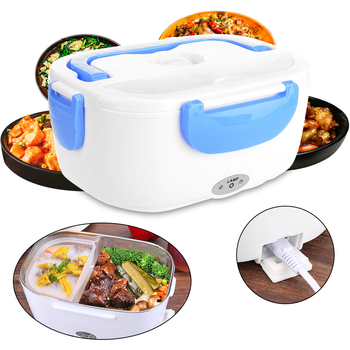 1.05L Electric Lunch Box 110/220V/Car Plug Food-Grade Food Container Food Warmer For 4 Buckles Dinnerware Sets dropshipping image