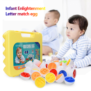 26PCS ABC Alphabet Matching Eggs Educational Color & Shape Recognition Sorter Puzzle Skills Study Toys Easter Bingo Game Gift