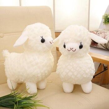 цена на 30cm Cute sheep Plush Toy Stuffed Soft Animal Lovely Pillow Christmas Gift for Kids Kawaii Llama Valentine Present M018