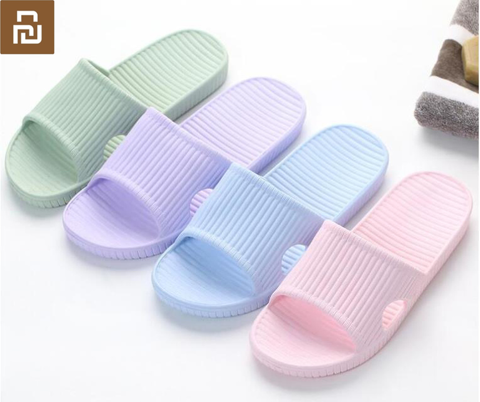 Youpin slippers soft ladies men's children's sandals non-slip home shower slippers children's casual slippers smart home(China)