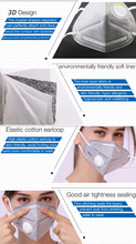 10pcs KN95 CE / FDA Dustproof Anti-fog Breathable Face Masks with Breathing Valve 95% Filtration N95 Masks Features as KF94 FFP2