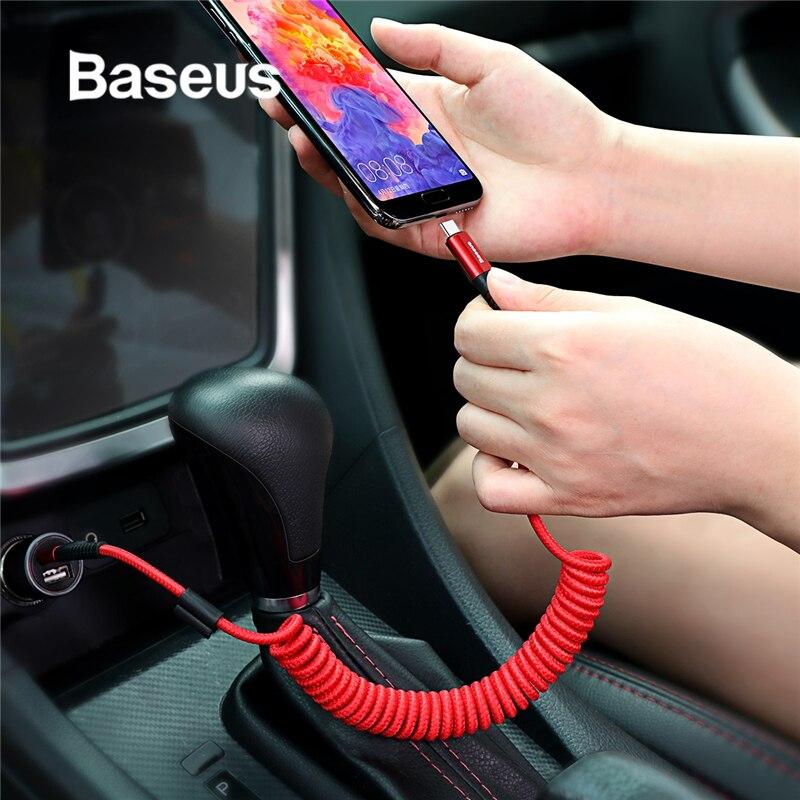 Baseus весенний usb-кабель Type-C для Xiaomi Mi 9 Huawei P30 Lite Samsung S10 2A USB C Быстрый кабель Выдвижной кабель типа C