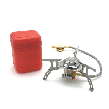 Portable Outdoor Folding Gas Stove Camping Equipment Hiking Picnic Igniter Ultralight Camping Split Gas Stove Camping Stove bulin s03 foldable outdoor stove ultralight stove power camping integrated split gas stove furnace for outdoor survival tools