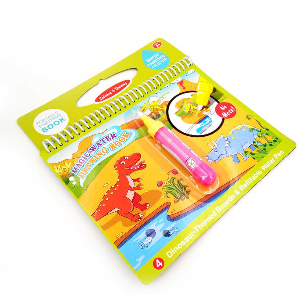 Libro da colorare di Magic Water Disegno Libro Da Colorare Libro Libro di Doodle & Magic Pen Pittura Tavolo Da Disegno per Bambini Giocattoli Regalo Di Compleanno