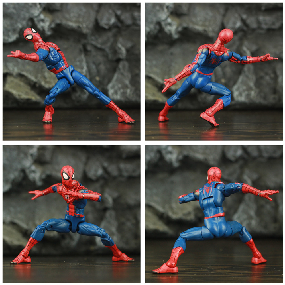 "Image 5 - Spider Man Peter Parker 6"" Action Figure Classic Cloth T shirt Jeans Stanley KOs Marvel Legends Comic Pizza Spiderman Toys DollAction & Toy Figures   -"