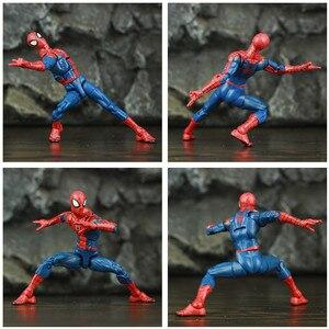 """Image 5 - Spider Peter Parker 6 """"figurine classique tissu T shirt jean KOs ML légendes bande dessinée Pizza vengeur père homme jouets poupée modèle"""
