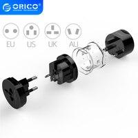 ORICO-adaptador eléctrico Universal, toma de corriente portátil, convertidor de viaje todo en uno, para uso en EE. UU./ru/UE/AU