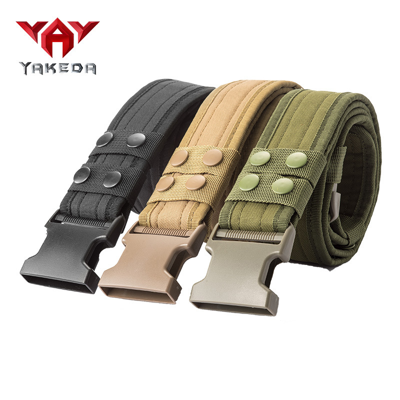Yakeda New Style Outdoor Tactical Belt Multi-functional Nylon Waistband Casual Pants With Army Fans Supplies Equipment