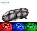 Светодиодная лента RGB 300, 5 м, 60 светодиодов/м, SMD 5050, белая, теплая, белая, красная, Синяя светодиодная лента, водонепроницаемая гибкая лента 12 В...