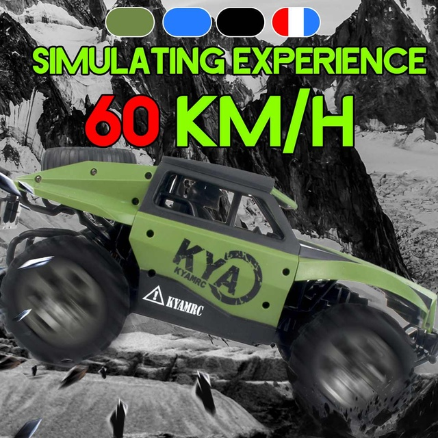 High Speed 60km/h RC Racing Car Trucks 1:18 2WD 2.4G Radio Control RC Car remote control car Off-Road boys Toys for Children 1