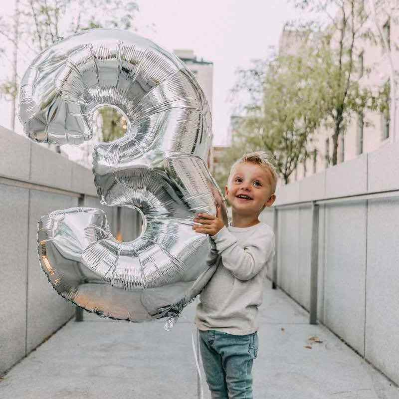 30, 40 pulgadas grande de cumpleaños globos de gas helio globo número decoración de la fiesta de cumpleaños de los niños de plata de Oro Verde cifras Ballon