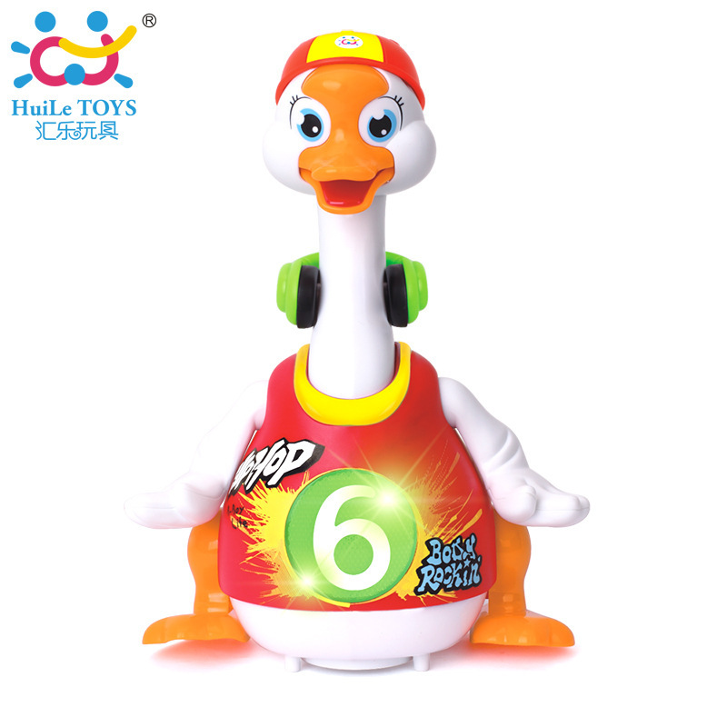 Department Of Music 828 Sway Goose CHILDREN'S Electric Toys Moving Talk Singing Dancing Duck 1-2 A Year Of Age Boy