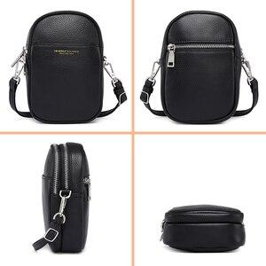 Image 4 - NEVEROUT из натуральной кожи сумка для мобильного телефона через плечо для Для женщин Дамская хозяйственная сумка через плечо деньги сумка с длинным ремнем