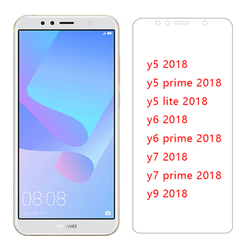 tempered glass for huawei y5 lite y6 y7 prime y9 2018 protective glas on y 5 6 7 9 5y 6y 7y 9y y52018 y62018 screen protector 9h image