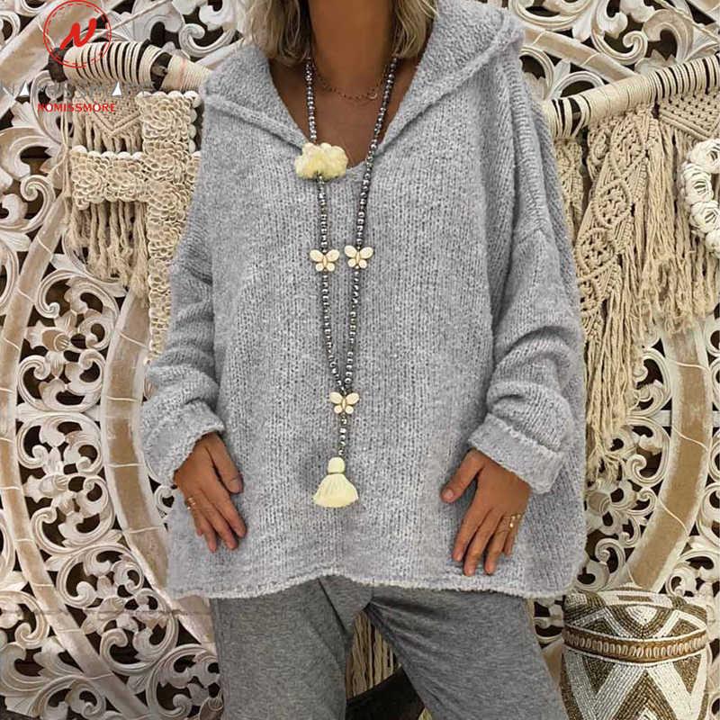 Long Sleeve Shirt for Women Hooded Design Autumn Winter Long